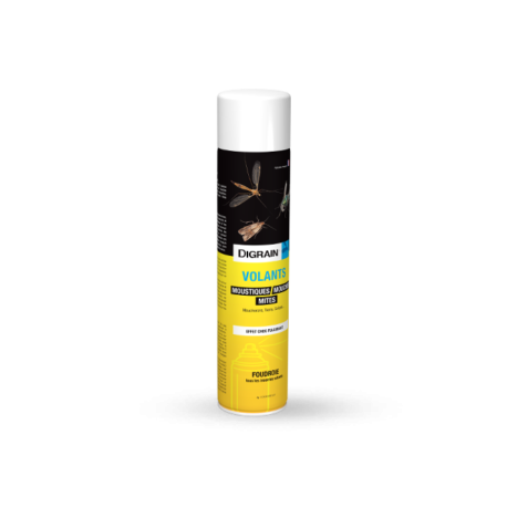 Aérosol de choc pour la destruction des insectes volants.